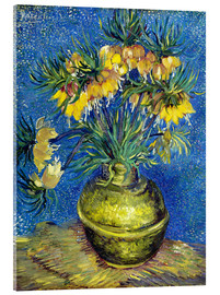 Acrylic glass  Fritillaries in a Copper Vase - Vincent van Gogh