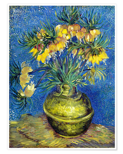 Premium poster Fritillaries in a Copper Vase