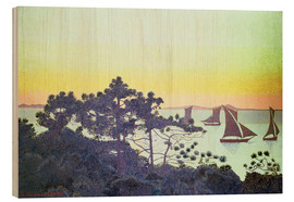 Wood print  The Pointe de la Galere - Henri Edmond Cross