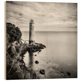 Wood print  [the forgotten lighthouse] - Mario Benz