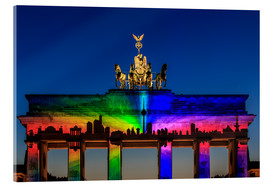 Acrylic print  Berlin skyline at the Brandenburg Gate - Frank Herrmann