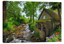 Canvas print  Mill in the black forest - Fine Art Images