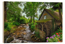 Wood print  Mill in the black forest - FineArt Panorama