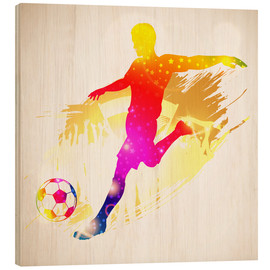 Wood print  Football Player - TAlex