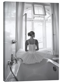 Canvas print  Ballerina the bathroom - Jenny Stadthaus