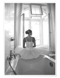 Premium poster Ballerina the bathroom