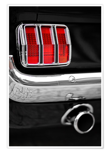 Premium poster Ford Mustang tail