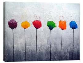 Canvas  six flowers - Yannick Leniger