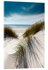 Acrylic glass  Dunes with fine beach grass - Reiner Würz RWFotoArt