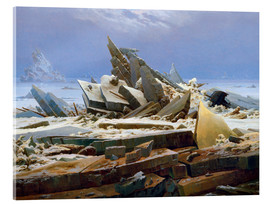 Acrylic print  The Arctic (of the Hope) - Caspar David Friedrich