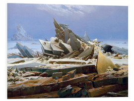 Foam board print  The Arctic (of the Hope) - Caspar David Friedrich