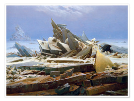 Premium poster  The Arctic (of the Hope) - Caspar David Friedrich