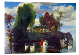 Acrylic glass  Island of the living - Arnold Böcklin
