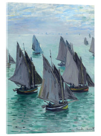 Claude Monet - Fishing boats in calm weather