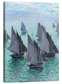 Canvas print  Fishing boats in calm weather - Claude Monet