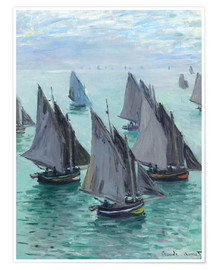 Premium poster Fishing boats in calm weather