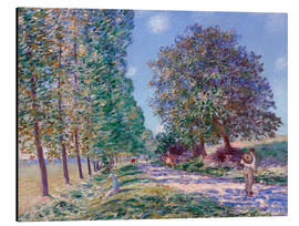Aluminium print  Poplar Avenue at Moret on the Loing - Alfred Sisley