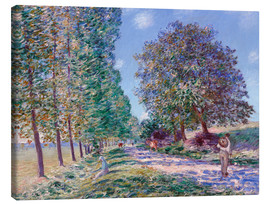 Canvas  Poplar Avenue at Moret on the Loing - Alfred Sisley