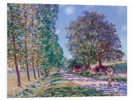 Foam board print  Poplar Avenue at Moret on the Loing - Alfred Sisley
