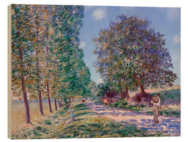 Wood  Poplar Avenue at Moret on the Loing - Alfred Sisley