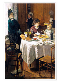 Premium poster  The Breakfast - Claude Monet