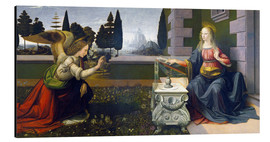 Aluminium print  The Annunciation - Leonardo da Vinci