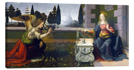 Canvas print  The Annunciation - Leonardo da Vinci