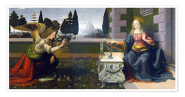 Premium poster  The Annunciation - Leonardo da Vinci