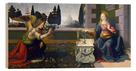 Wood print  The Annunciation - Leonardo da Vinci