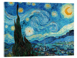 Acrylic glass  Starry night - Vincent van Gogh