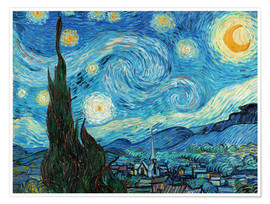 Premium poster  Starry night - Vincent van Gogh