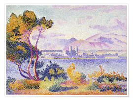 Premium poster  Antibes, Nachmittags (Antibes, Apres-midi). 1908. - Henri Edmond Cross