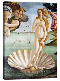 Canvas  The Birth of Venus (detail) - Sandro Botticelli