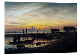 Acrylic print  Coastline in the evening light - Caspar David Friedrich
