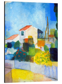 Alu-Dibond  The bright house (first version) - August Macke