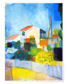 August Macke - The bright house (first version)