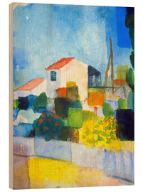 Wood print  The bright house (first version) - August Macke