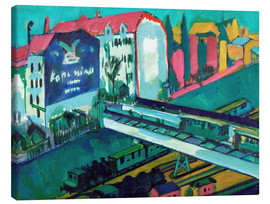 Canvas  Tram and Train - Ernst Ludwig Kirchner