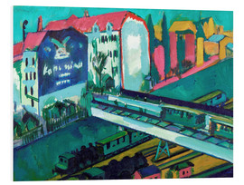 Foam board print  Tram and railway - Ernst Ludwig Kirchner