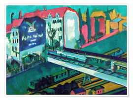 Ernst Ludwig Kirchner - Tram and Train