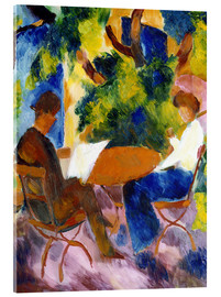 Acrylic print  Couple at the Garden Table - August Macke
