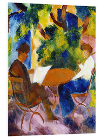 Forex  Couple at the garden table - August Macke