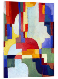 Acrylic print  Coloured Forms I - August Macke