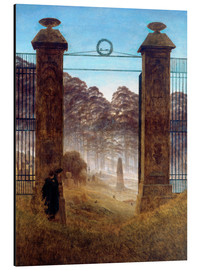 Aluminium print  The Cemetery - Caspar David Friedrich