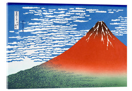 Acrylic print  Mt. Fuji in clear weather - Katsushika Hokusai