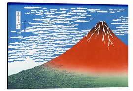Alu-Dibond  The Fuji in clear weather - Katsushika Hokusai