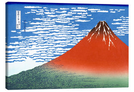 Canvas  The Fuji in clear weather - Katsushika Hokusai