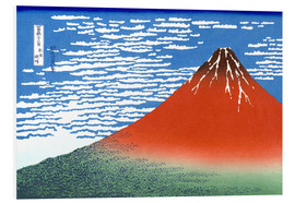 Foam board print  Mt. Fuji in clear weather - Katsushika Hokusai