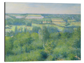 Aluminium print  The valley of Yerres - Gustave Caillebotte