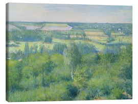 Canvas print  The valley of Yerres - Gustave Caillebotte